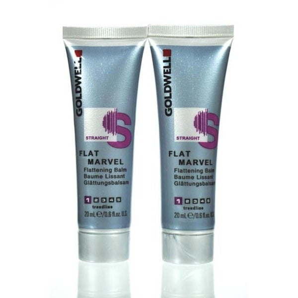 Goldwell Flat Marvel 0.6-ounce Travel Size Flattening Balm (Pack of 2)