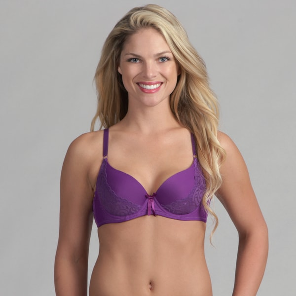 24/7 Frenzy Lacy Molded Bra Purple
