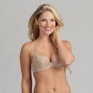 247 Frenzy Lacy Molded Bra Beige