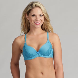24/7 Frenzy Women's Blue Lacy Molded Bra