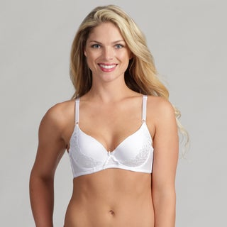 247 Frenzy Women's White Lacy Molded Bra
