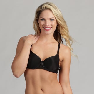 24/7 Frenzy Solid Microfiber Molded Bra Black