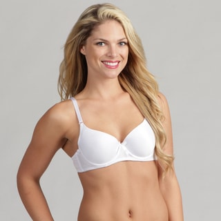 24/7 Frenzy Solid Microfiber Molded Bra White