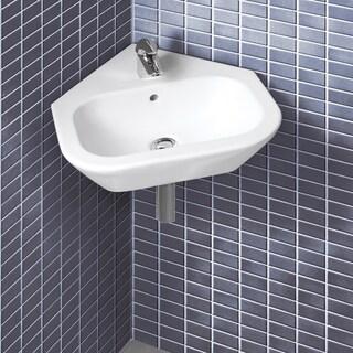 Nexus Wall-mount Corner Ceramic Sink
