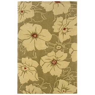 Indoor Gold/ Beige Transitional Floral Area Rug