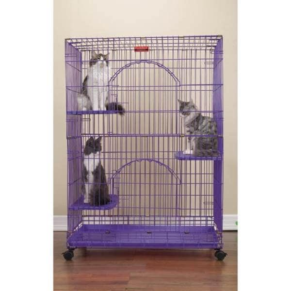 Proselect Purple Foldable Cat Cage