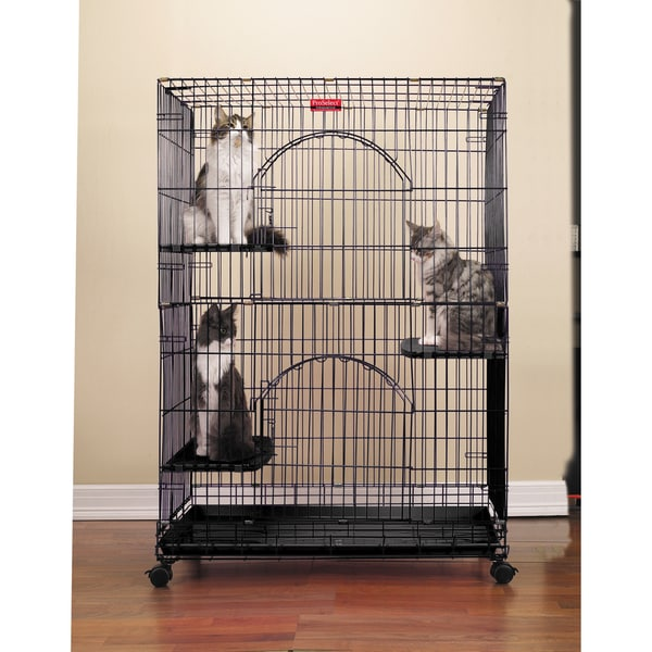 Proselect Black Foldable Cat Cage
