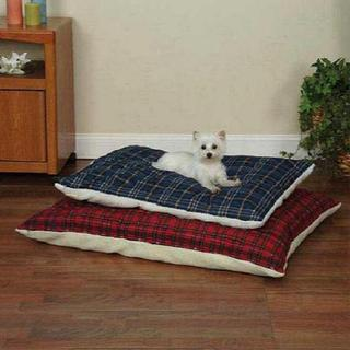 Zack & Zoey Plaid Pillow Bed with Berber Top