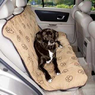 Cruising Companion Camel Pawprint Car Seat Cover