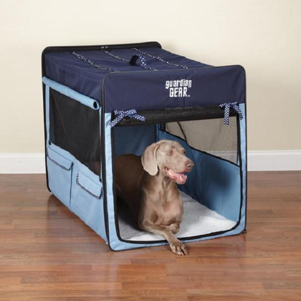 Guardian Gear Blue Polka Dot Collapsible Crate