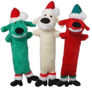 Loofa Dog Santa 12-inches