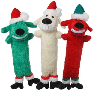 Loofa Dog Santa 6-inches