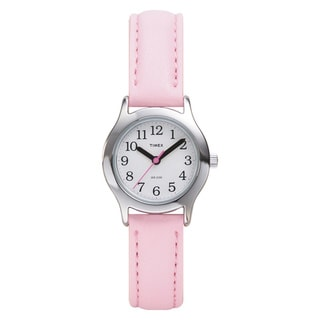 Timex Kids' Easy Reader Pink Leather Strap Watch