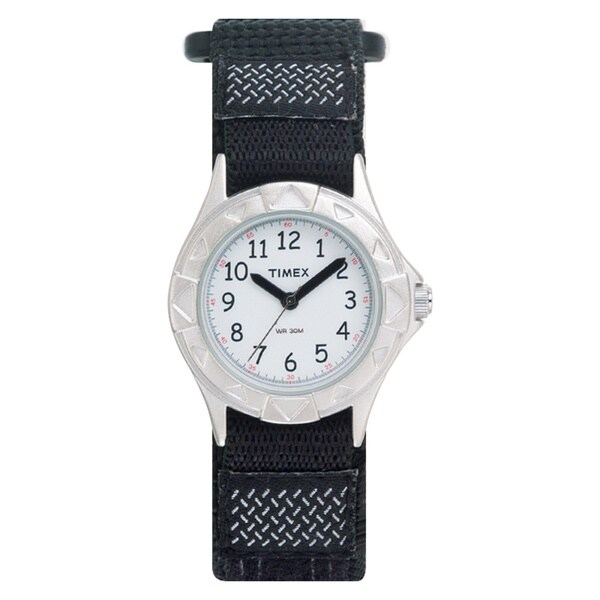 Timex T790519J Kids' Outdoor Black Fast Wrap Strap Watch