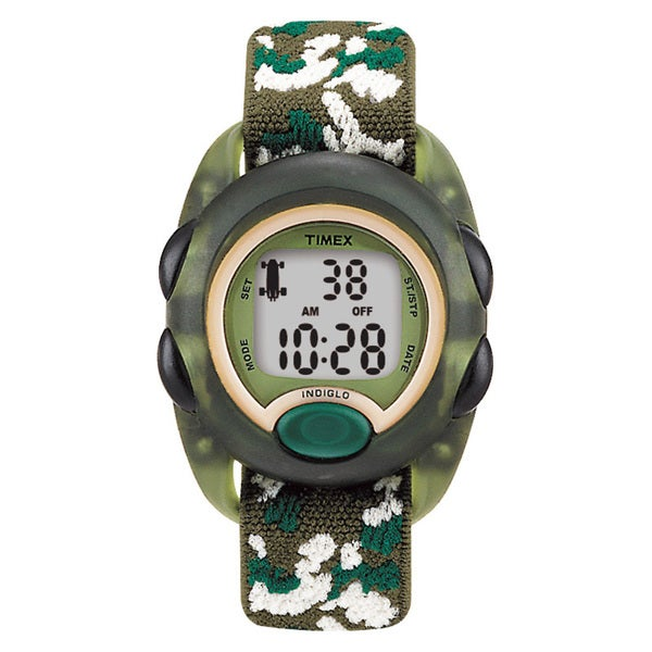 Timex T719129J Kids' Digital Camo Elastic Fabric Strap Watch