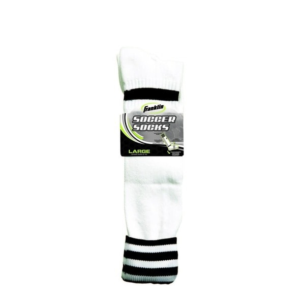 Black/White Adult Soccer Socks (Pack 6)