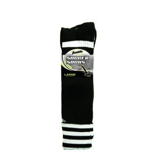 Black/White Adult Size (large) Soccer Socks (Pack of 6)