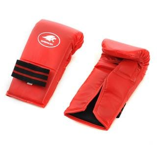 Lion Martial Arts Medium Red Vinyl Punch Glove Pair