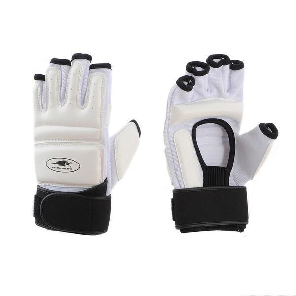 Lion Martial Arts White Medium KD Hand Protectors (Set of 2)