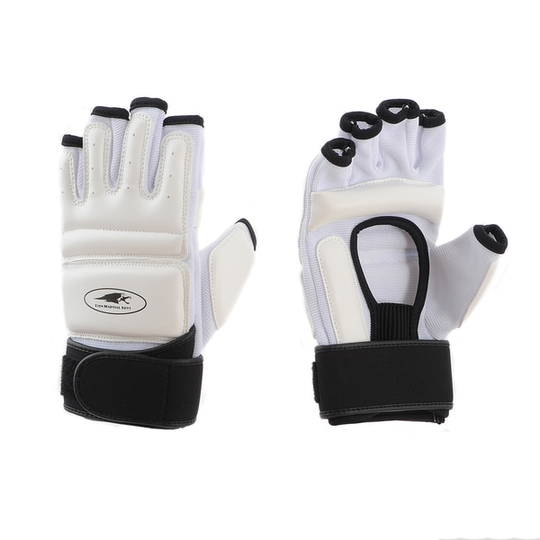 Lion Martial Arts White Small KD Hand Protectors (Set of 2)