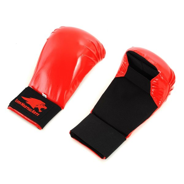 Lion Martial Arts Large Red Karate Glove Pair