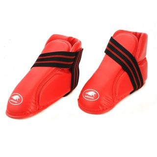 Lion Martial Arts Large Red Vinyl Kicks Pair