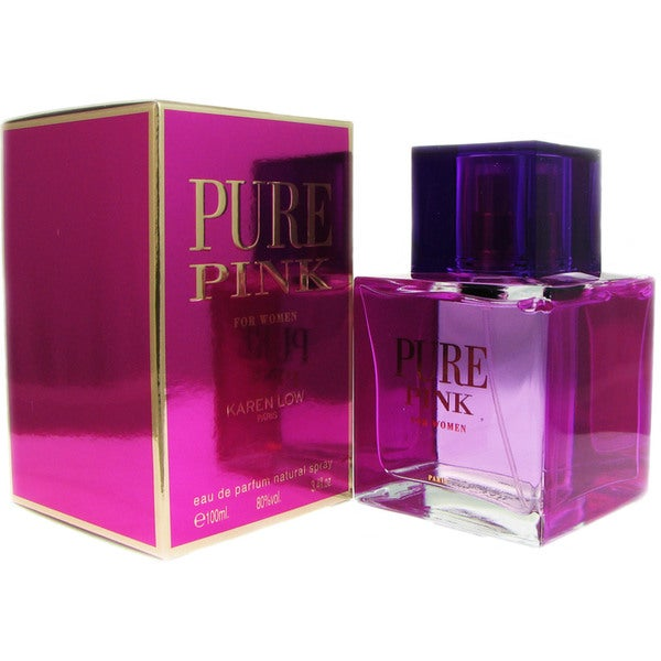 Pure Pink for Women by Karen Low 3.4-ounce Eau de Parfum Spray