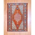 Persian Hand-knotted Tribal Kurdish Rust/ Ivory Wool Rug (4&#39;3 x 6&#39;)