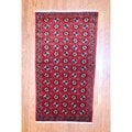 Persian Hand-knotted Tribal Balouchi Red/ Black Wool Rug (3'6 x 6'5)