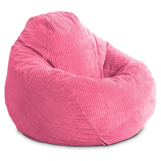 BeanSack Ultra Pink Corduroy Lounge Bean Bag Chair