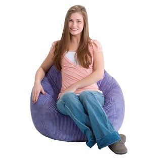 BeanSack Ultra Purple Corduroy Lounge Bean Bag Chair