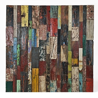 Ecologica Reclaimed Wood Color Mosaic Panel