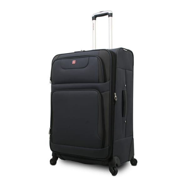 SwissGear SA7297 Grey 28-inch Expandable Spinner Upright Suitcase