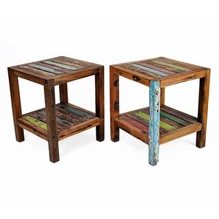 Nice Ecologica Maritima Reclaimed Wood End Table