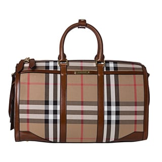 Burberry '3799644' House Check Duffle Bag