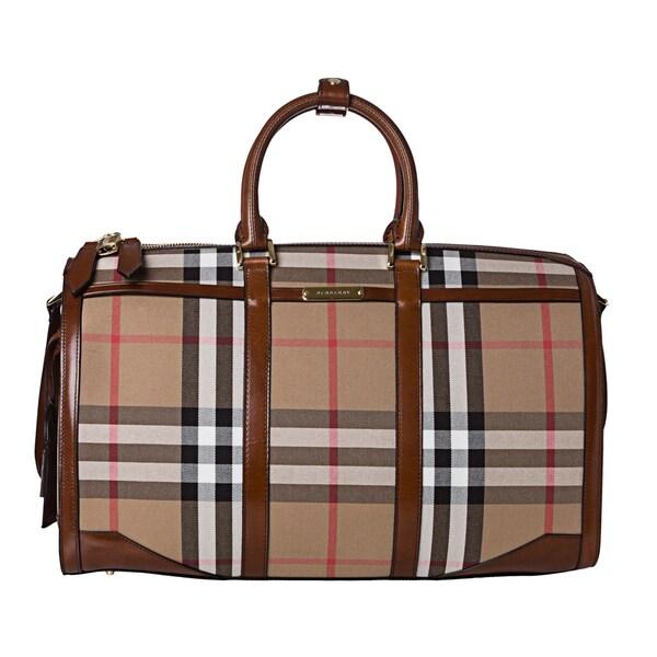 Burberry '3799644' House Check Duffle Bag
