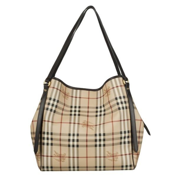 Burberry '3741797' Medium Haymarket Check Tote Bag