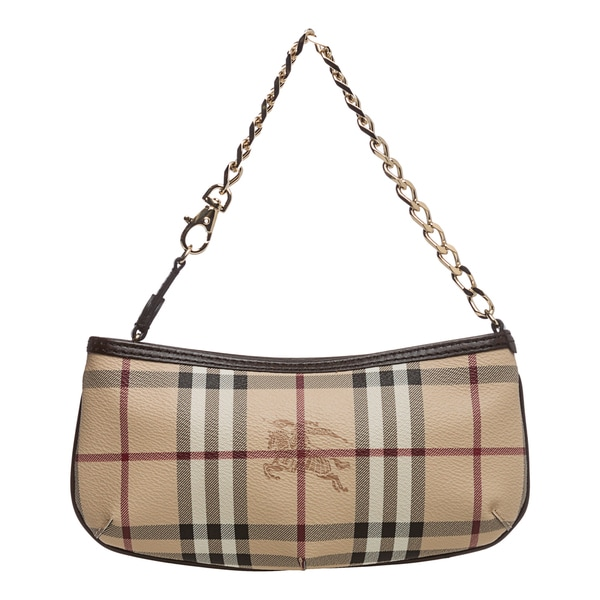 Burberry '3729042' Haymarket Check Wristlet Clutch