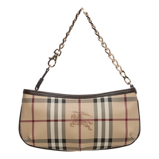 Burberry &#39;3729042&#39; Haymarket Check Wristlet Clutch