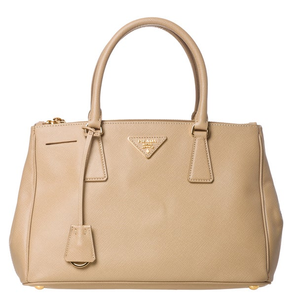 prada leather - Prada 'BN1801 NZV F0D32' Saffiano Leather Tote Bag - 14819166 ...