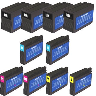 HP 932XL 933XL Black Colors Ink Cartridge Pack of 10 (Remanufactured)