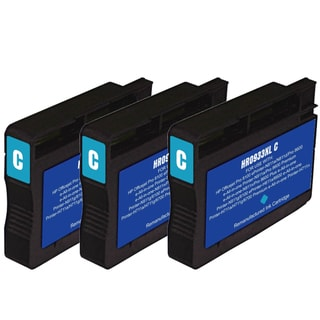 HP 933XL Cyan Ink Cartridge Pack of 3 (Remanufactured)