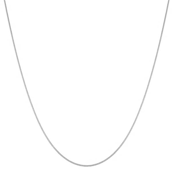 Fremada 14k White Gold Curb Chain (18-20-inch)