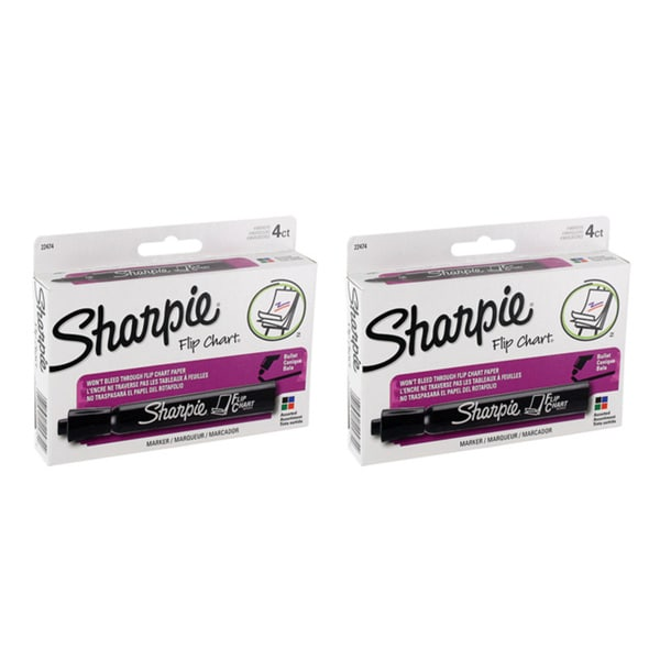 Sharpie Bullet Tipped Flip Chart Markers (Pack of 8)