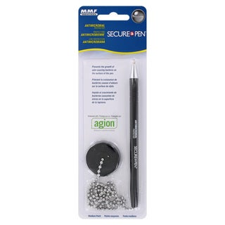 MMF Industries Secure-A-Pen Ballpoint Counter Pen with Base (Pack of 6)
