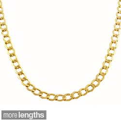 Fremada 10-karat Yellow Gold 3.6mm Curb Chain (18-30 inch)