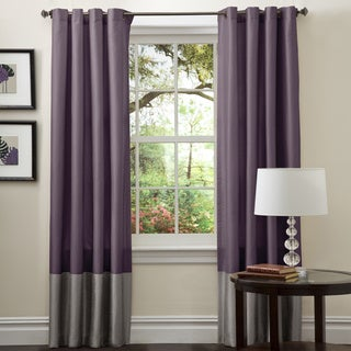 Lush Decor Prima Grey/ Purple 84-inch Curtain Panels (Set of 2)