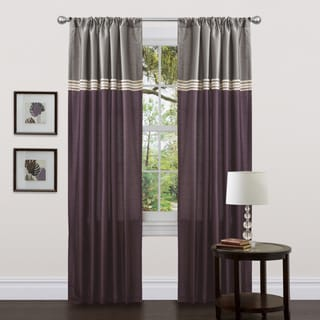 Lush Decor Terra Purple 84-inch Curtain Panels (Set of 2)