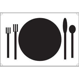 Plat Du Jour 'Plate Noir' Paper Placemats (Pack of 50)