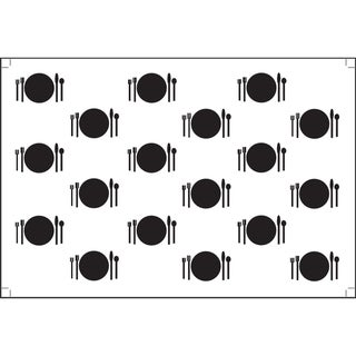 Plat Du Jour 'Small Plates Noir' Paper Placemats (Pack of 50)